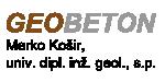 GEOBETON MARKO KOŠIR
